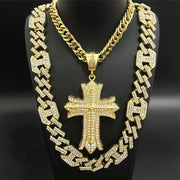 Hip Hop Men Gold Color Neckalce Masked Man Anti-terror Hood Neckalce Pendent Ice Out Cuban In Crystal Chain Hip Hop For Men