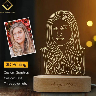Custom Photo 3D Lamp, Personalized Night Light,Custom Photo Lamp,Custom 3D Lamp, Personalized Lamp, Night Light, For Gifts