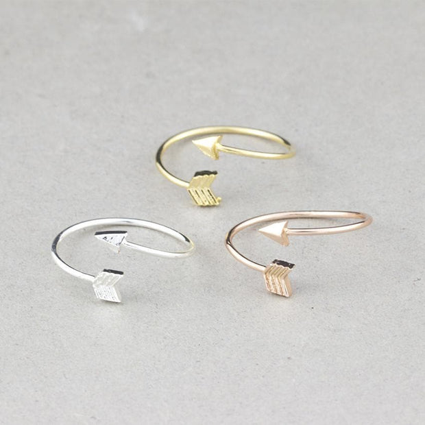 One Direction Arrow Rings For Women Men Bff Gift Aneis Feminino Minimalist Jewelry Rose Gold Bague Adjustable Midi Knuckle Ring