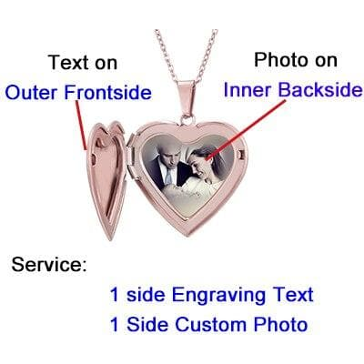 Photo Locket Necklace Custom Name Personalized Photo Heart Shaped Family Pendant Necklace For Women Men Chirdren Christmas Gift