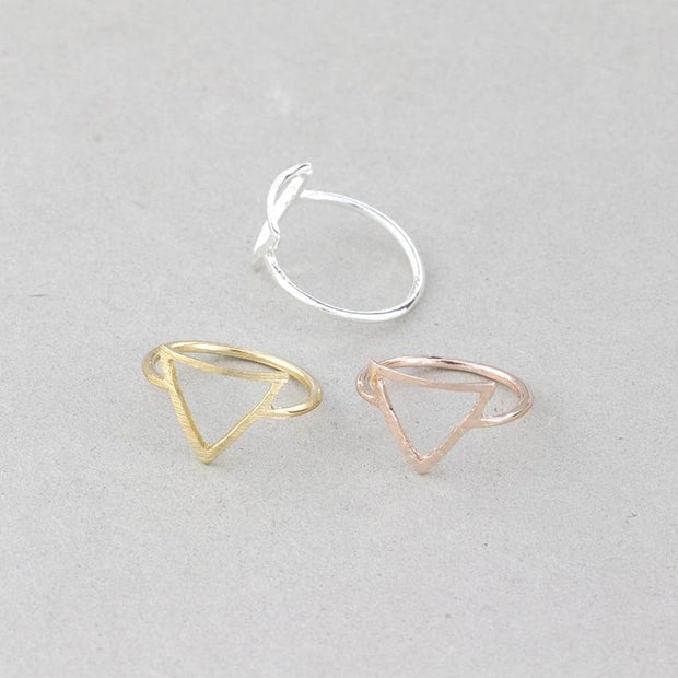 Rose Gold Knuckle Rings For Women Minimalism Wedding Jewelry 2019 Lucky Karma Circle Triangle Ring Sister Gifts Bague Femme bff