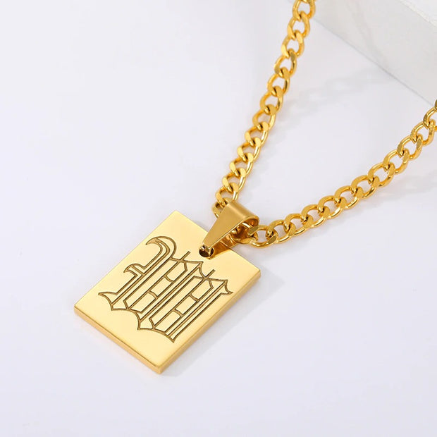 Initial Necklace For Women Gold Color Stainless Steel Letter Pendant Necklace Accessories Jewelry For Women Gold Chains Choker