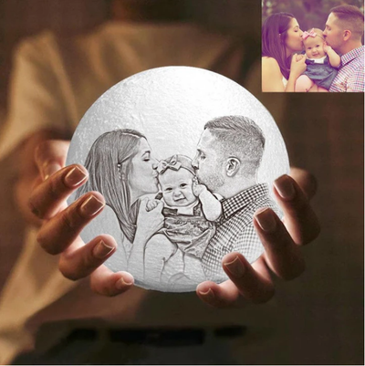 Magic 3D Printing Photo Engraved Moon Light Best Gift For A Loved One