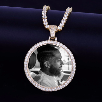 Custom Made Photo Medallions Necklace For Men