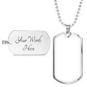 Custom Photo Dog Tag Necklace For Man - Dog Tag Gift With Photo And Tag