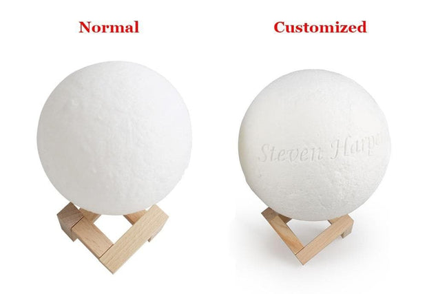 Photo Moon Lamp, Custom 3D Photo Light, Memorial Gift