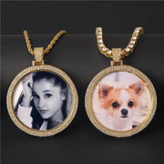 Personalized Double Layers Memory Medallions Photo Necklace