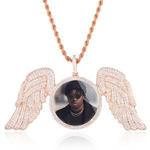 Custom Made Photo Angel Wing Medallion Necklace