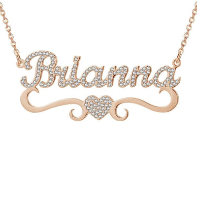 Iced Out Title Name Necklace