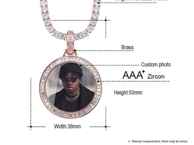 Custom Photo Memory Medallion Necklace
