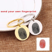 Personalized Fingerprint Engraved Keychain