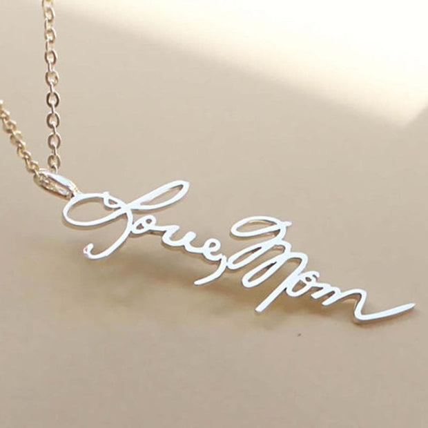 Custom Name Handwriting Necklace