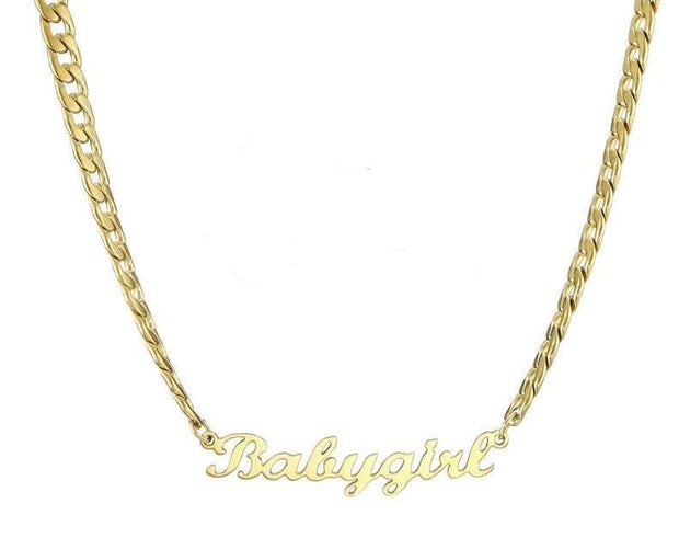 Custom Name Necklace In 18K Gold