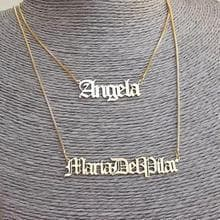 Customized Name Necklace- Gothic Old English Style