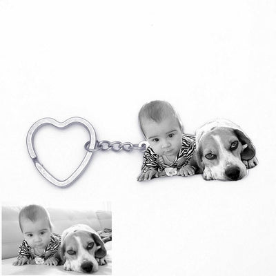 Sculpture animal photo Key Chain
