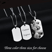 Custom Tag Photo Necklace For Man & Woman