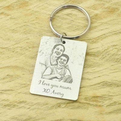 Custom Photo Keychain- Christmas Gift for Her/Him