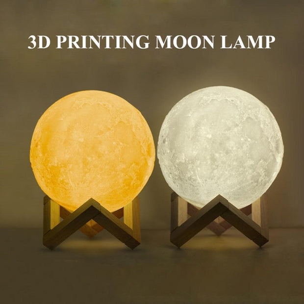 Personalized 3D Photo Printed Moon Light Valentine Gift