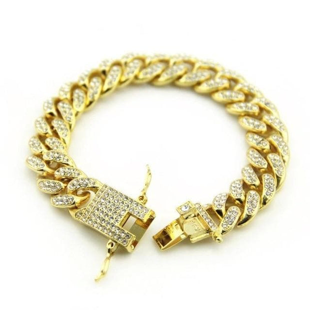 Hip Hop Bracelet 12mm Cuban Link Chain