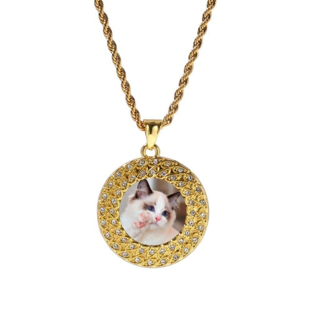 Custom Made Photo Round Medallions Necklace