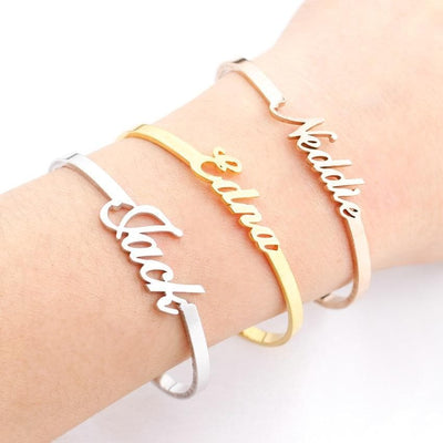 Adjustable Name Bracelets For Women
