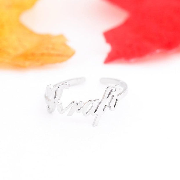 Personalized Name Ring Adjustable Size