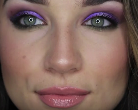 How To Wear Color Eye Shadow - Purple & Green