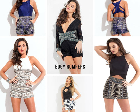 d0063138fea Rock attitude in these edgy chic rompers with a super flirty fit. Go all out  with lustful curls