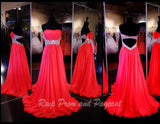 Watermelon Sweetheart Low Back Prom Dress - Rsvp COL - Long Gown - Rsvp Prom and Pageant