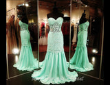 Mint Lace Prom Dress-Sheer Midriff and Skirt-Sweetheart Neckline - Rsvp DJ - Long Gown - Rsvp Prom and Pageant Atlanta, Georgia GA