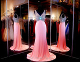 Pink V-Neck Long Dress - Rsvp EC - Long Gown - Rsvp Prom and Pageant - 1