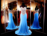 Turquoise Jersey Long Dress - Rsvp EC - Long Gown - Rsvp Prom and Pageant - 1