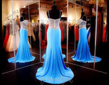 Turquoise Jersey Long Dress - Rsvp EC - Long Gown - Rsvp Prom and Pageant - 3