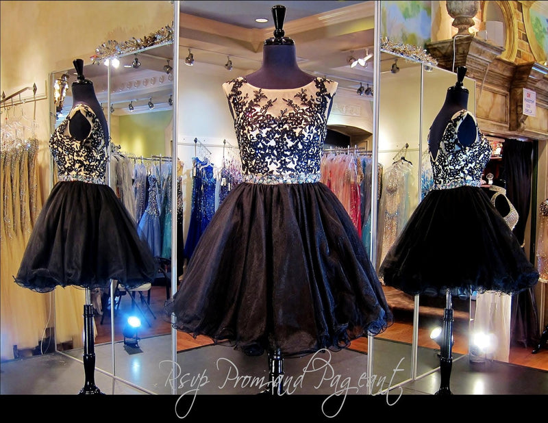 Black/Nude Lace Short Dress (SALE) - Rsvp EP - Short Dress - Rsvp Prom and Pageant Atlanta, Georgia GA - 5