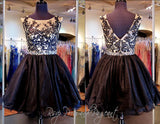 Black/Nude Lace Short Dress (SALE) - Rsvp EP - Short Dress - Rsvp Prom and Pageant Atlanta, Georgia GA - 2