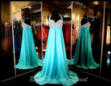 Blue Sweetheart Chiffon Prom Dress - Rsvp EP - Long Gown - Rsvp Prom and Pageant