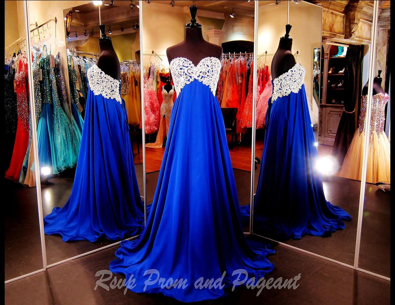 Strapless Royal Blue Long Dress / Rsvp Prom and Pageant, Atlanta, GA / Best Prom Store in Atlanta / #Promheaven