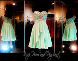 Mint Strapless Sweetheart Chiffon Homecoming Dress - Rsvp HS - Short Dress - Rsvp Prom and Pageant - 1