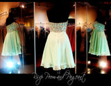 Mint Strapless Sweetheart Chiffon Homecoming Dress - Rsvp HS - Short Dress - Rsvp Prom and Pageant - 2