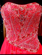 Pink Strapless Drop Waist Prom Dress / Rsvp Prom and Pageant, Atlanta, GA / Best Prom Store in Atlanta / #Promheaven