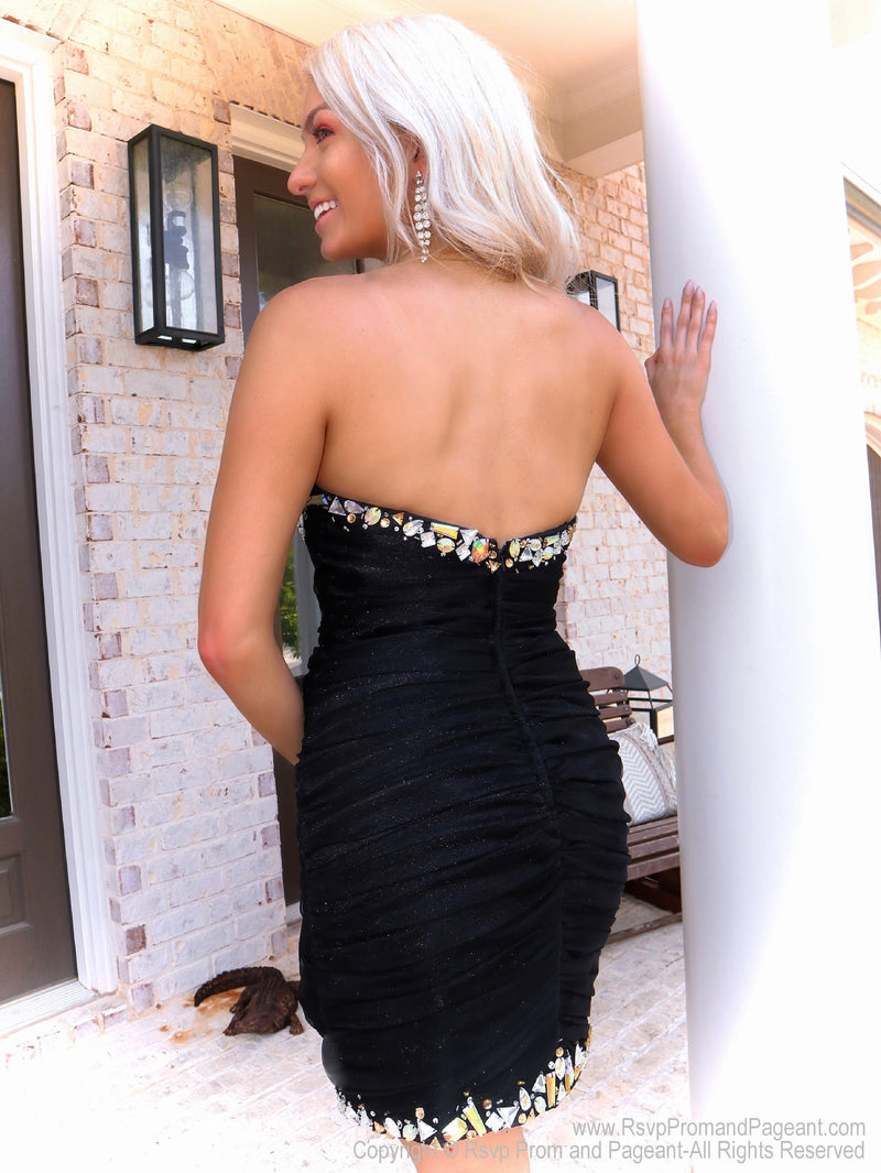 Back of That Must Have Little Black Dress at Rsvp Prom and Pageant, the best promdress store in Atlanta, Georgia