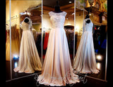 Coffee High Neckline Chiffon Long Dress - Rsvp MM - Long Gown - Rsvp Prom and Pageant - 1