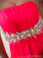 Closeup of bodice of Adorable Little Dress Perfect for Homecoming at Rsvp Prom and Pageant, the best prom dress store located in metro Atlanta, GA and also known as Promheaven!