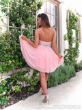 Back of Awesome Chiffon Short Dress with Beaded Top at Rsvp Prom and Pageant, your source for the hottest prom, pageant and homecoming dresses, Atlanta, GA