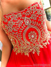 Bodice of Red Embellished Sweetheart Short Homecoming Dress at Rsvp Prom and Pageant, Best Prom Dress Store, Atlanta, Georgia