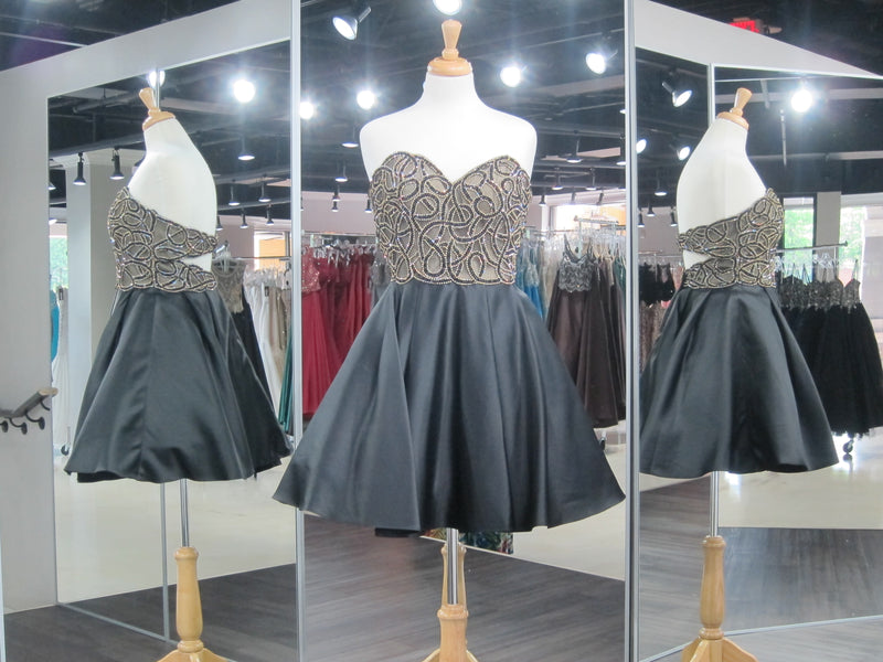 Black Strapless Cut Out Back Homecoming Dress - Rsvp Prom and Pageant, Atlanta, GA
