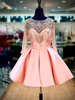 Dance the night away in this cute little sleeved dress. And it's at Rsvp Prom and Pageant, your source for the HOTTEST Prom, Pageant and Short Dresses, located in Atlanta, Georgia!