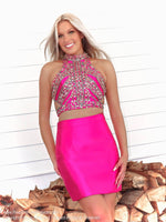 Beautiful mode in Pretty in Hot Pink! And it's at Rsvp Prom and Pageant, your source for the HOTTEST Homecoming, Prom and Pageant Dresses and located in Atlanta, Georgia!