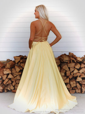 Back of simple and elegant A-line dress will definitely make heads turn as you walk  through the door! And it's at Rsvp Prom and Pageant, your source for the HOTTEST Prom and Pageant Dresses and exclusive evening gowns and located in Atlanta, Georgia!