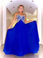 Royal Sweetheart Neckline Flowing Chiffon Prom Dress